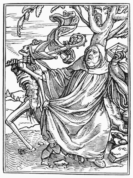 Holbein Dance Death Abbot