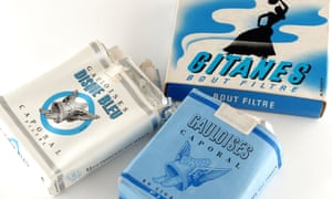 Gauloises and Gitanes cigarette packets.