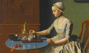 A Dutch Girl at Breakfast, by the 18th-century Swiss artist Jean-Étienne Liotard