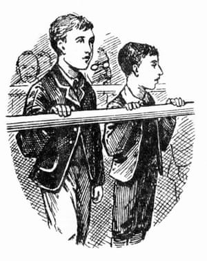 Newspaper sketches of Robert Coombes (left) and his brother, Nathaniel 'Nattie' Coombes, in court