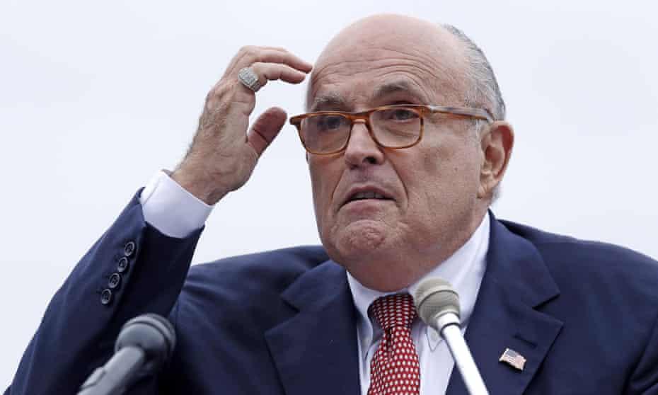 Rudy Giuliani, Donald Trump's personal lawyer and loyal lapdog.