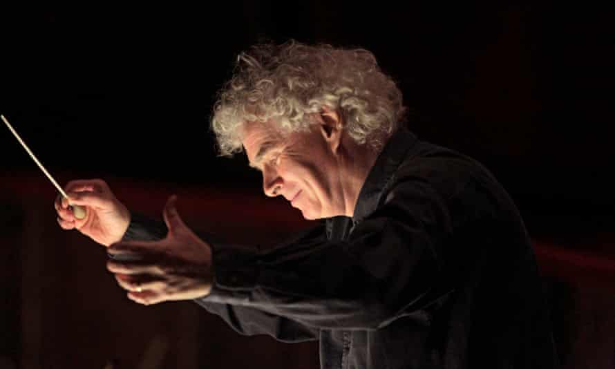 "Sir Simon Rattle conducts the rehearsal of Debussy's ""Pelleas et Melisande"""