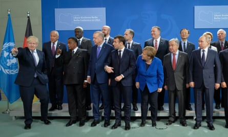 European and world leaders at a summit in Germany last month. As many western countries lean towards populism, Macron is charting a course to defend Europe's liberal principles.