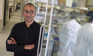 Nobel prize winner in Chemistry, Venki Ramakrishnan in his laboratory at the new MRC Molecular Biology building, Cambridge Biomedical campus. 20/11/13