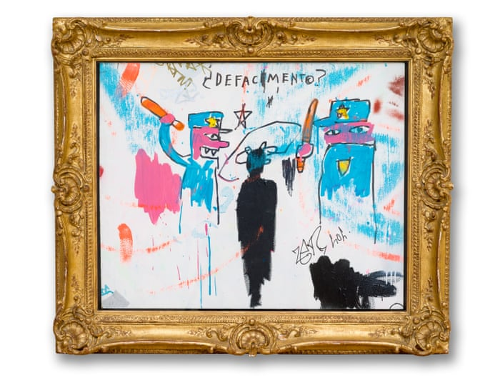 Defacement: the tragic story of Basquiat's most personal painting   Art and  design   The Guardian
