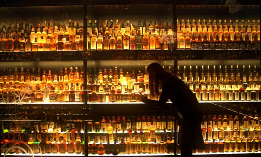 Rows of whisky bottles