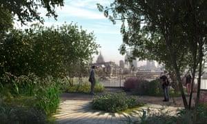 The proposed Thames garden bridge: 'a river-hogging calamity'.