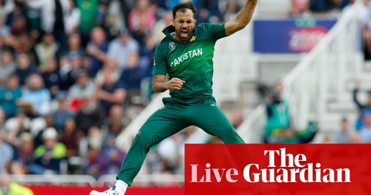 f2a4ca13c7 Pakistan beat England in Cricket World Cup thriller – as it happened ...