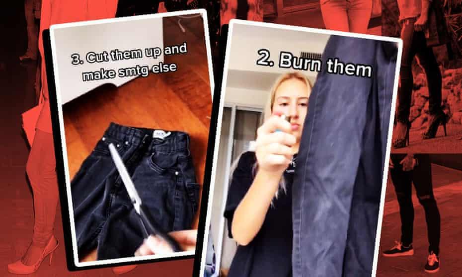TikTok videos have taken aim at skinny jeans