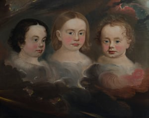 Heavnly Children - William Matthew Prior.  By the time this mystical portrait was painted in 1848, William Matthew Prior had lost his first wife and six of their children. It arrived in the same year that spiritualism started and Prior himself later became a spiritualist and his second wife was a clairvoyant.