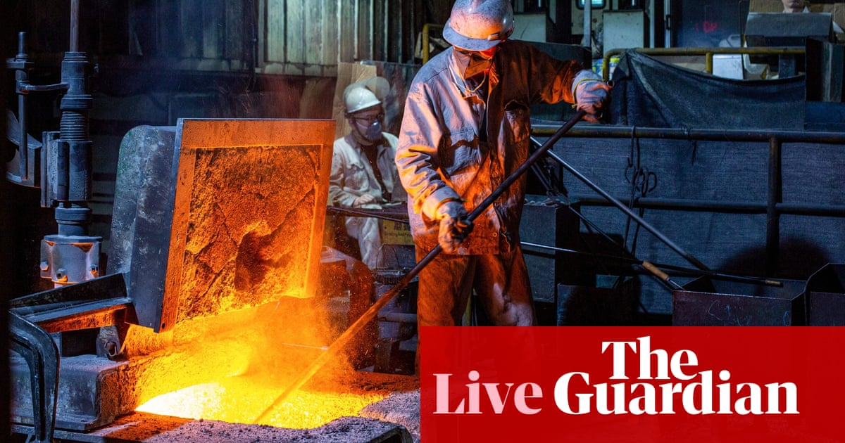 Chinese growth concerns as coronavirus new wave slows factory output – business live