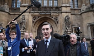 Jacob Rees-Mogg announces he has submitted a letter of no confidence in his prime minister to journalists outside parliament.