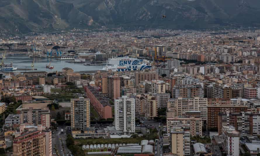 Palermo's skyline is now dominated by brutalist tower blocks after the mafia's demolition of the city's grand art nouveau mansions