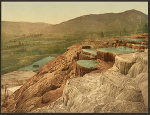 Pulpit Terraces from above, Yellowstone national park, Wyoming