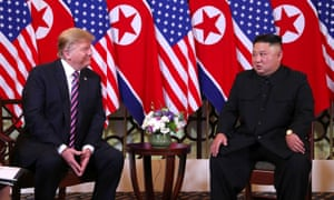 Donald Trump meets with Kim Jong-un in Hanoi, Vietnam, on 27 February.