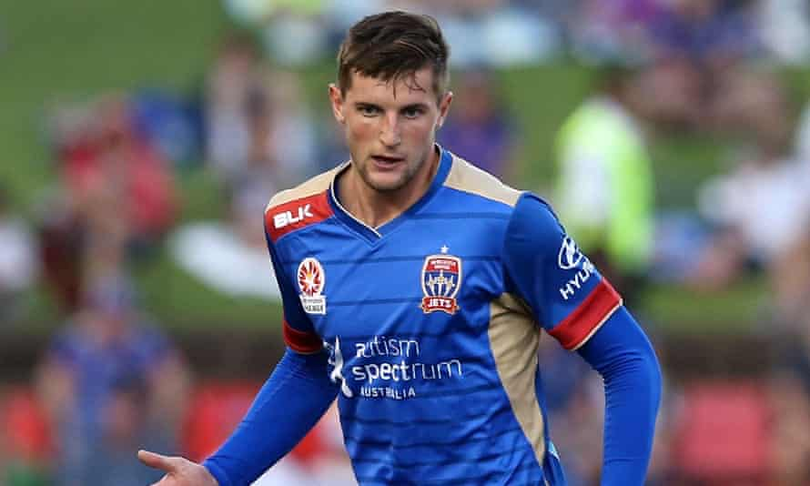 Andy Brennan in flamin' A-League action, earlier.