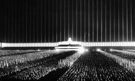 The Nuremberg rally in 1937 at the Zeppelin Field in Nuremberg, Germany
