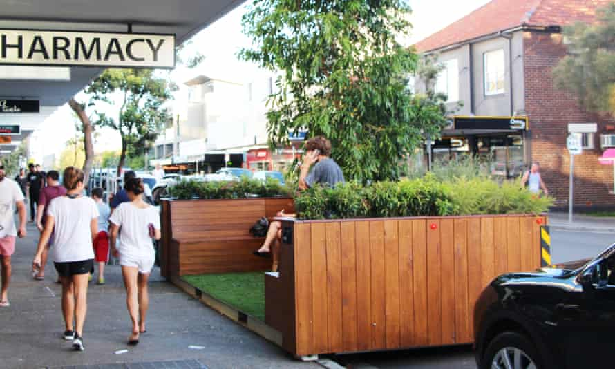A parklet in Hall Street, Bondi Beach