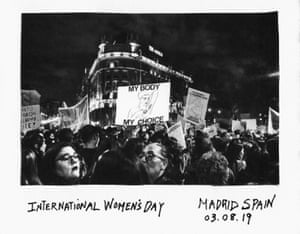 International Women's Day march, Madrid, 2019 by Donna Ferrato.
