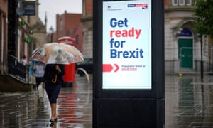 A 'Get ready for Brexit' sign in Wigan, where 63% of voters favoured leaving the EU in the 2016 referendum.