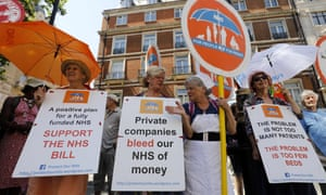 'The government has pledged to invest another £20bn in the NHS over four years but there are concerns that much of this could find its way into the hands of private companies.'