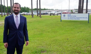 Lawyer Philip Hunter outside the LaSalle detention facility.