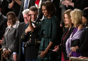 Away from the glamour of celebrity, Alaia's dresses were a consistent part of Michelle Obama's FLOTUS wardrobe. She wore his signature skater-style dresses to events like the State of the Union address in 2014.