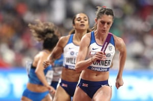 Jessica Turner helps Britain to a PB.