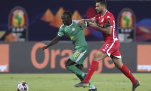 Sadio Mané attacks during Senegal's Africa Cup of Nations semi-final win over Tunisia.