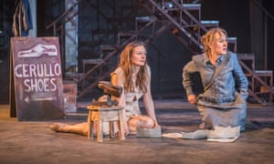 Independent women … Catherine McCormack as Lila and Niamh Cusack as Lenu in My Brilliant Friend at the Rose theatre, Kingston.