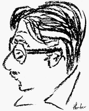 James Thurber self-portrait