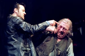 Beauty and pain … Graves with Michael Gambon in Pinter's The Caretaker in 2000.