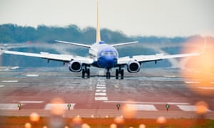 A Southwest Airlines flight lands at Washington Reagan Airport in Arlington, Virginia, USA, 28 April 2020.