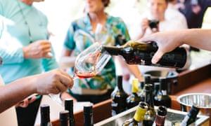 Sampling wine at the annual Feira do Douro.