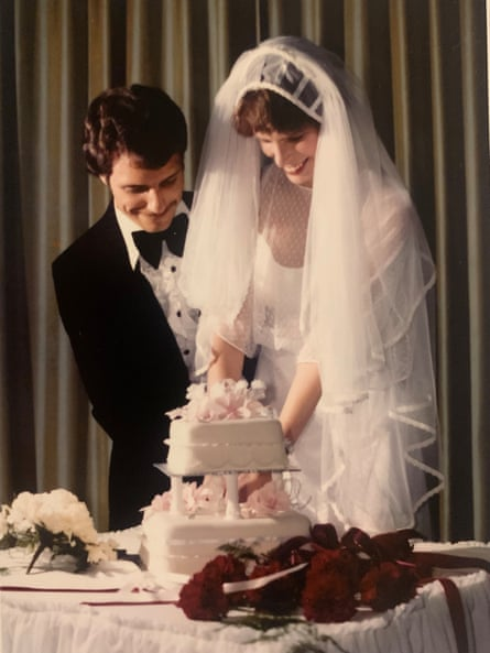 John and Angela Liveris on their wedding day.
