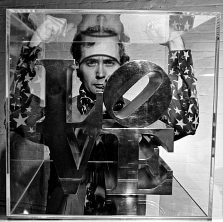 Robert Indiana in his New York studio in 1969.