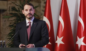 Berat Albayrak is due to address foreign investors about the lira crisis on Thursday.