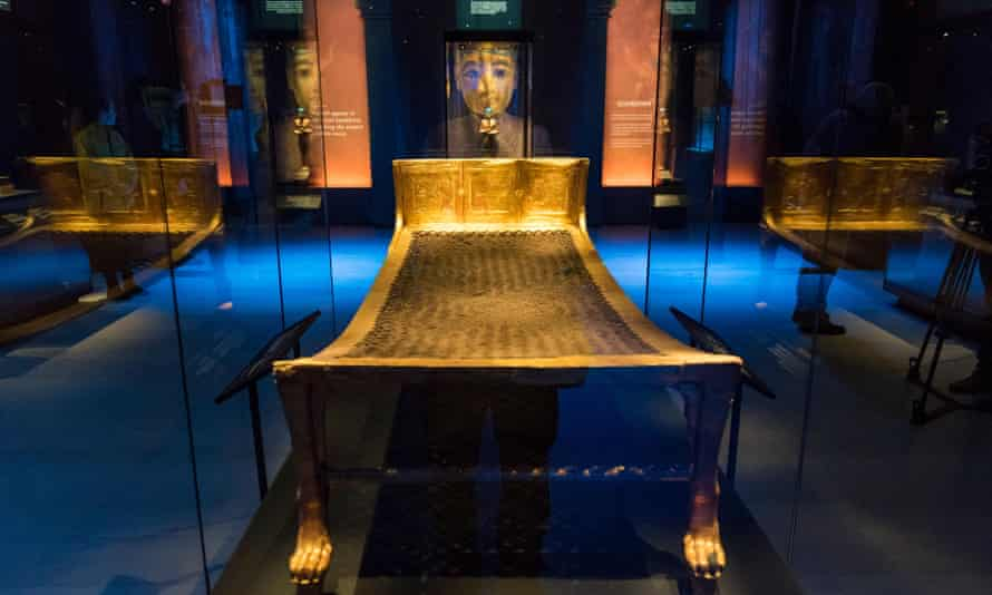 Tutankhamun's camp bed.