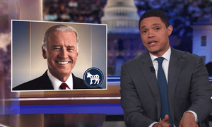Trevor Noah: 'Let me put it this way: if rubbing noses was just Biden being cute and being a harmless grandpa, how come you've never seen him do it with men?'