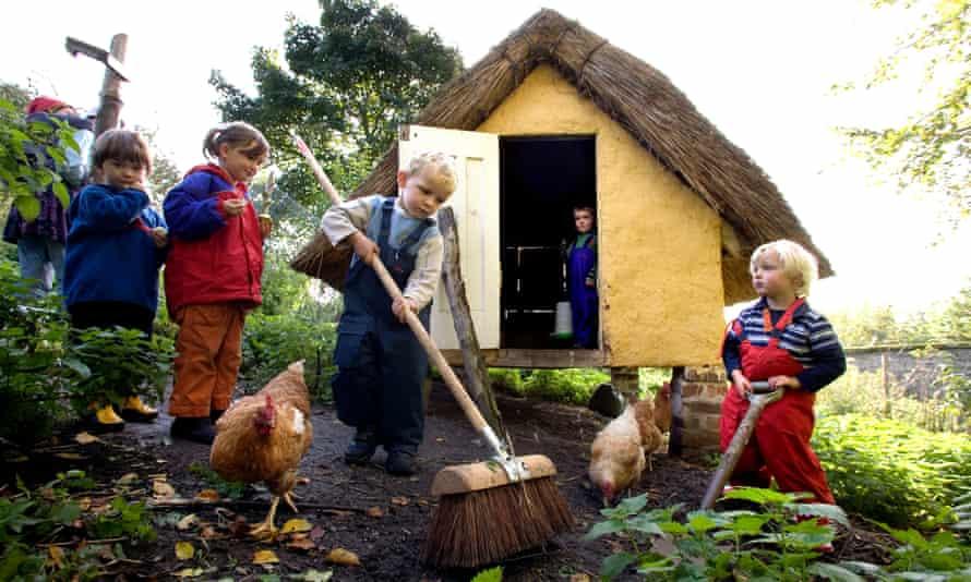 Children at an outdoor nursery in Fife