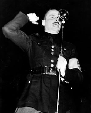 Oswald Mosely, leader of the Blackshirts