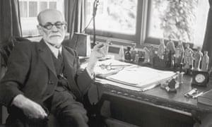Sigmund Freud at his desk 1938.