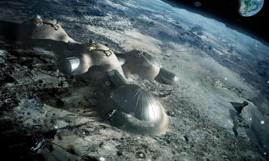 """ESA's Jan Woerner is quick to point out that his moon village vision is not """"single houses, a school, a church, a swimming pool, a bakery, an undertakers. This is not what I'm thinking about."""""""