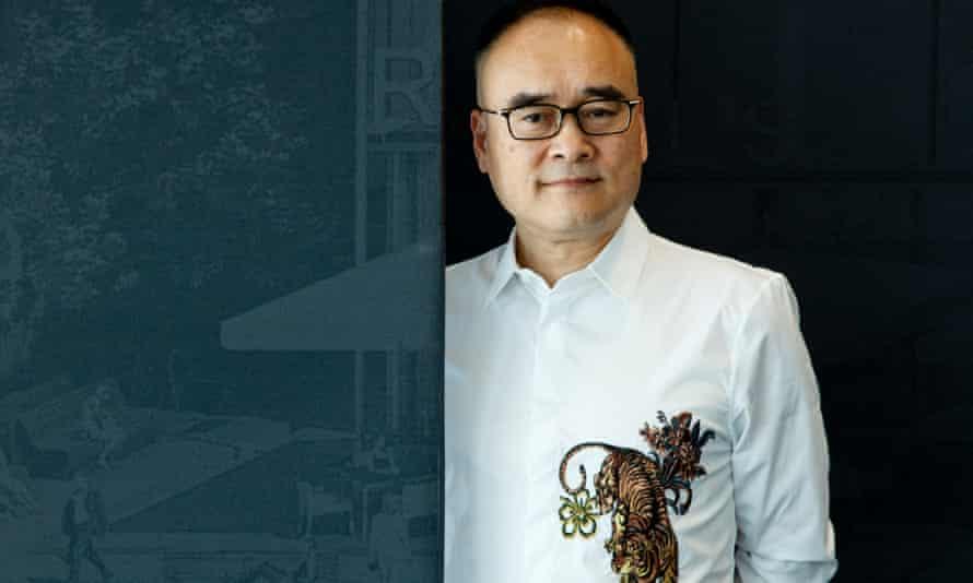 Entrepreneur Xu Weiping, at the Royal Albert Docks