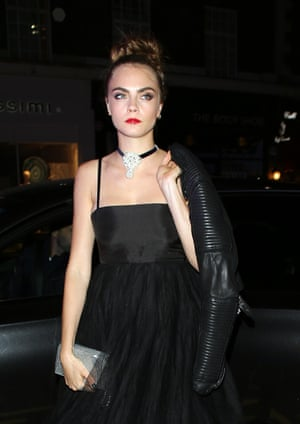 Cara Delevingne at the Mademoiselle Privé Party at the Saatchi Gallery.