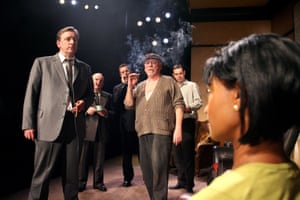 The Homecoming Neil Dudgeon (Teddy), Anthony O'Donnell (Sam), Nigel Lindsay (Lenny), Kenneth Cranham (Max), Danny Dyer (Joey) and Jenny Jules (Ruth), directed by Michael Attenborough, Almeida theatre, London, 2008.