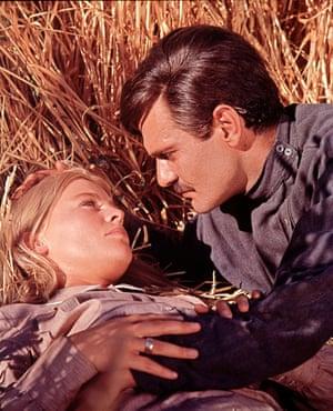 In Doctor Zhivago with Julie Christie, 1965
