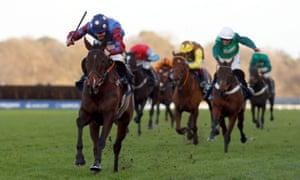 Paisley Park and Aidan Coleman storm clear in the JLT Hurdle
