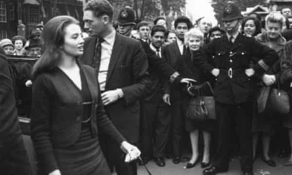 Christine Keeler arrives at court in October 1963