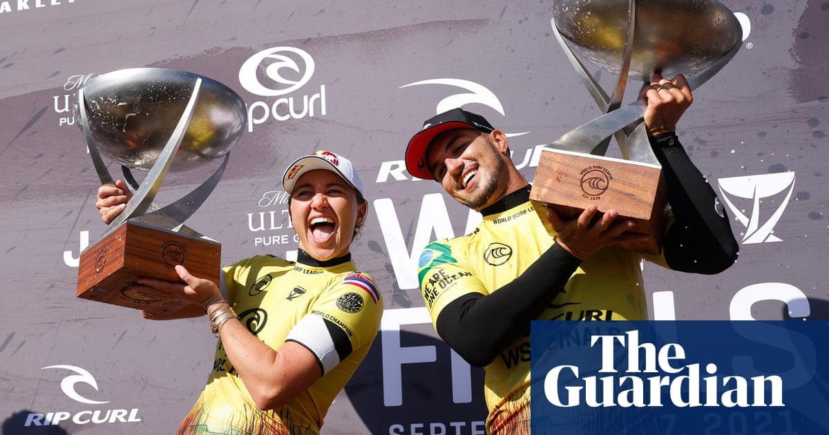 Steph Gilmore falls short in record surf title bid as shark halts men's WSL final